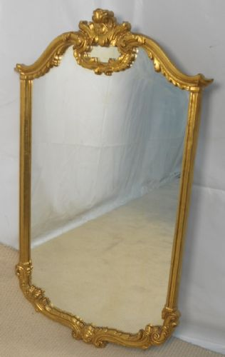 Large Antique Style Gilt Hanging Wall Mirror